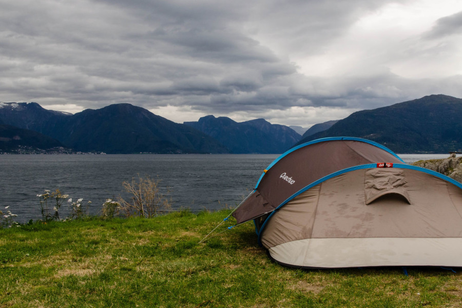 Camping au bord du Sognefjord